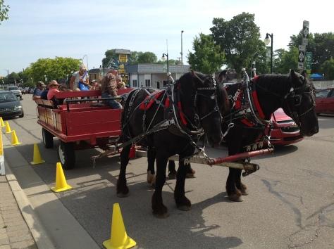 Wagon Rides at Port Austin Market.