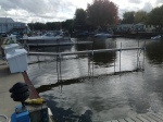 Low Water Leaves Docks High in Caseville Harbor