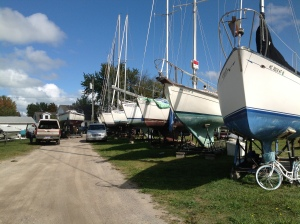 Sailboats on Cradles