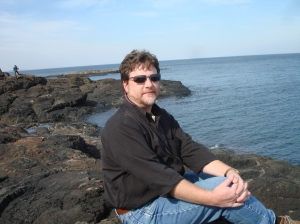Thumbwind author on Lake Superior