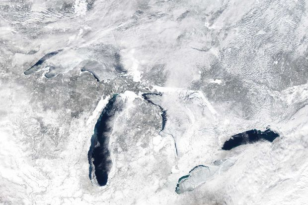 Great Lakes Ice Coverage 2014