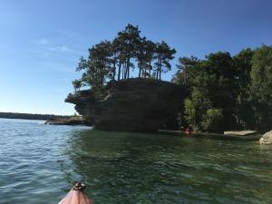 Turnip Rock Near Pointe Aux Barques Michigan