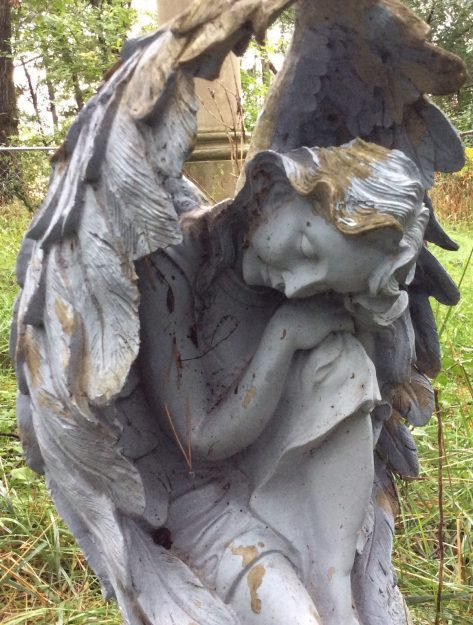Ora Labora Grave Old Bay Port Cemetery Angel